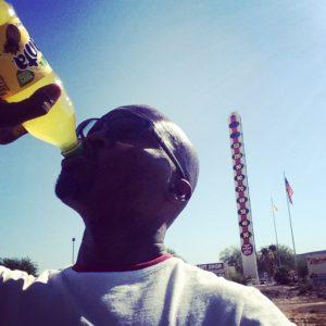 Fanta helps when it's 113 degrees! (near Vegas in Baker, CA)