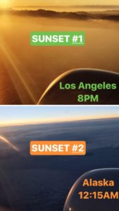 LA and Alaska Sunsets
